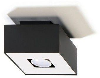 Mono lampa sufitowa 1-punktowa czarna/biała SL.0070