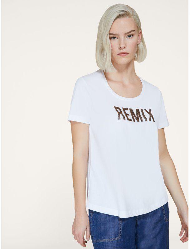 Persona by Marina Rinaldi T-Shirt Varieta 1972080 Biały Regular Fit