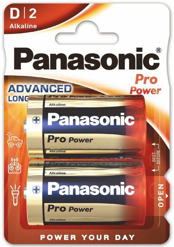 PANASONIC PRO POWER baterie alkaliczne D LR20 2szt