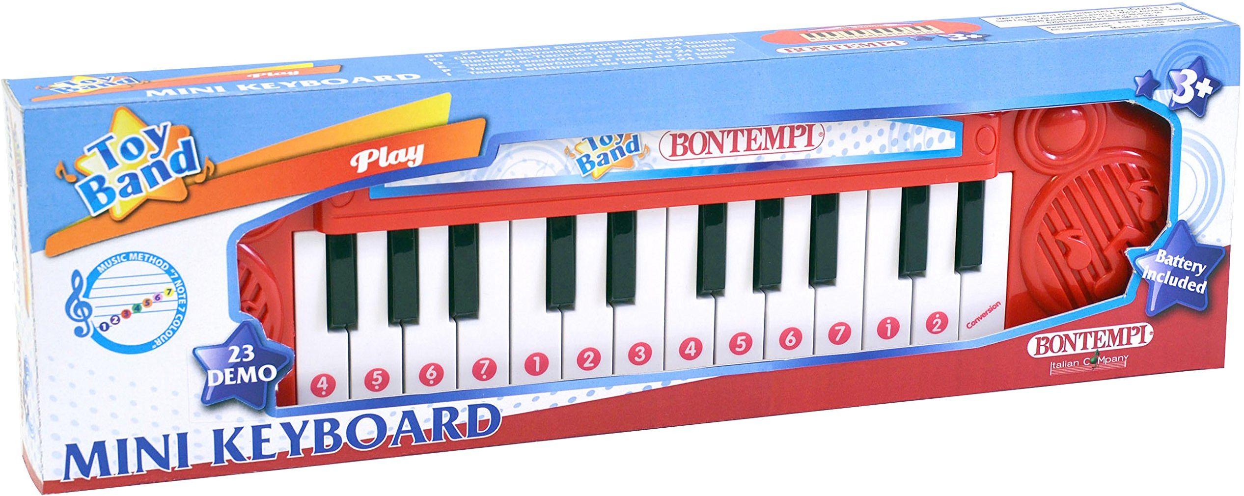 Bontempi Bontempi122406 24 klawisze pudełko na klawiaturę, wielokolorowe