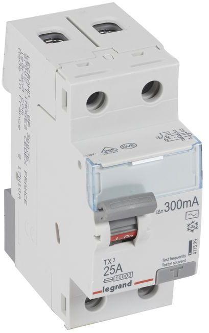 Wyłącznik różnicowoprądowy 2P 25A 0,3A typ AC P302 TX3 411529
