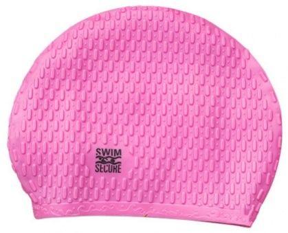 Swim secure bubble swim hat różowy