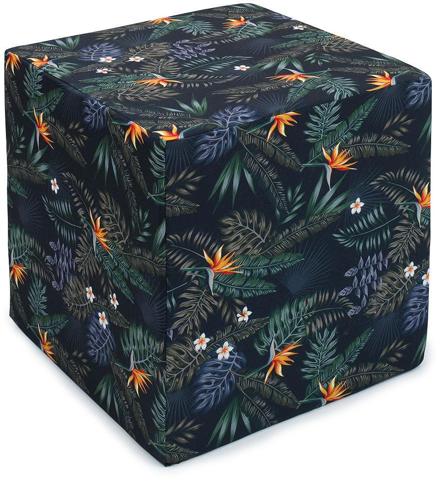 MAMO-TATO Pufa kostka kwadratowa 40x40 Kwiaty tropik