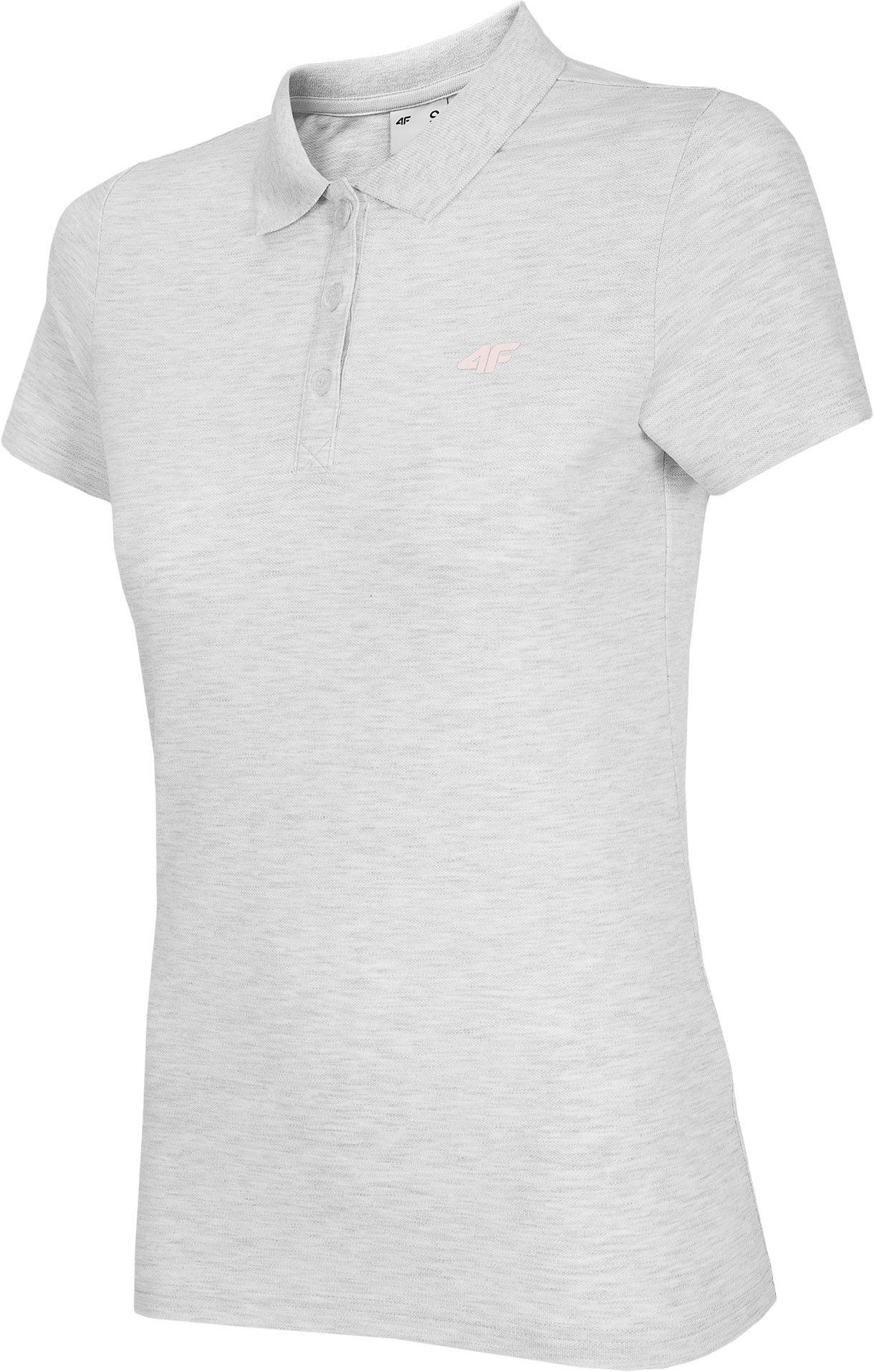 Koszulka polo damska 4F TSD007 - biały melanż (NOSH4-TSD007-10M)