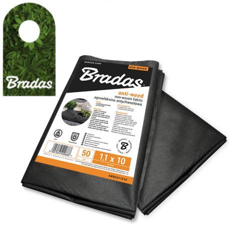 Agrowłóknina antychwastowa czarna 50g/m2 1,6 x 5m BRADAS 0905