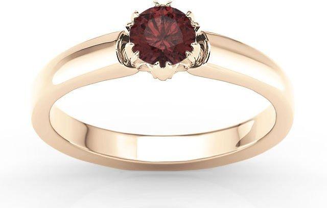 Pierścionek zaręczynowy z różowego złota z granatem bp-2130p