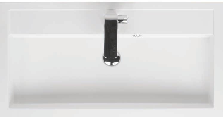 Riho Umywalka z marmuru syntetycznego 100x48 Bologna F7BO110048111