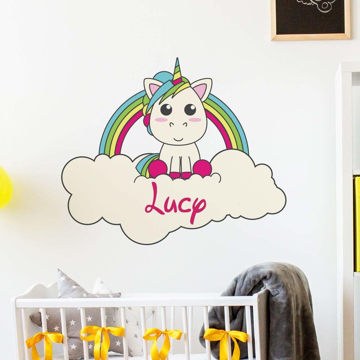 Spersonalizowane naklejki z imieniem spersonalizowane naklejki z imieniem  dekoracje ścienne do pokoju dziecięcego 2 arkusze po 30 x 35 cm i 40 x 25 cm  wielokolorowe