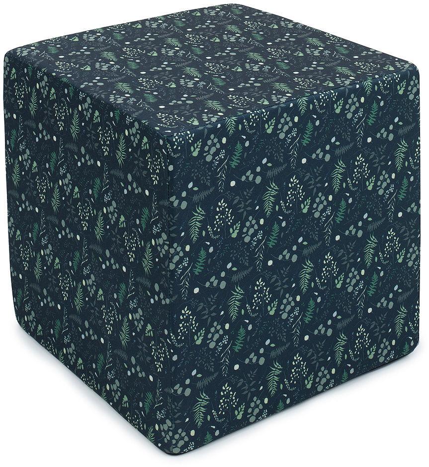 MAMO-TATO Pufa kostka kwadratowa 40x40 Listeczki zielone