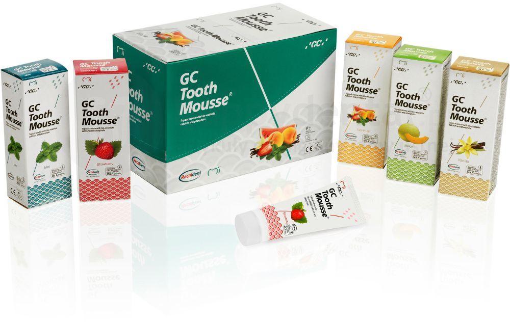 GC Tooth Mousse ochronna pasta o potrójnym działaniu - wzmacnia, ochrania i uzupełnia 35ml (płynne szkliwo)