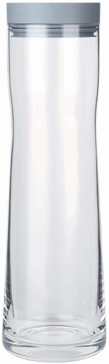 Blomus Splash sharkskin karafka na wodę  szklana karafka z pokrywką z polerowanej stali nierdzewnej i silikonu