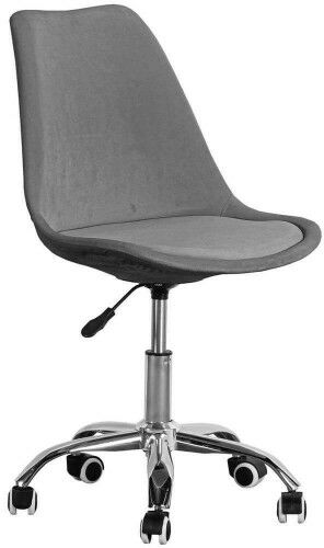 Krzesło obrotowe welurowe, szare ART235C