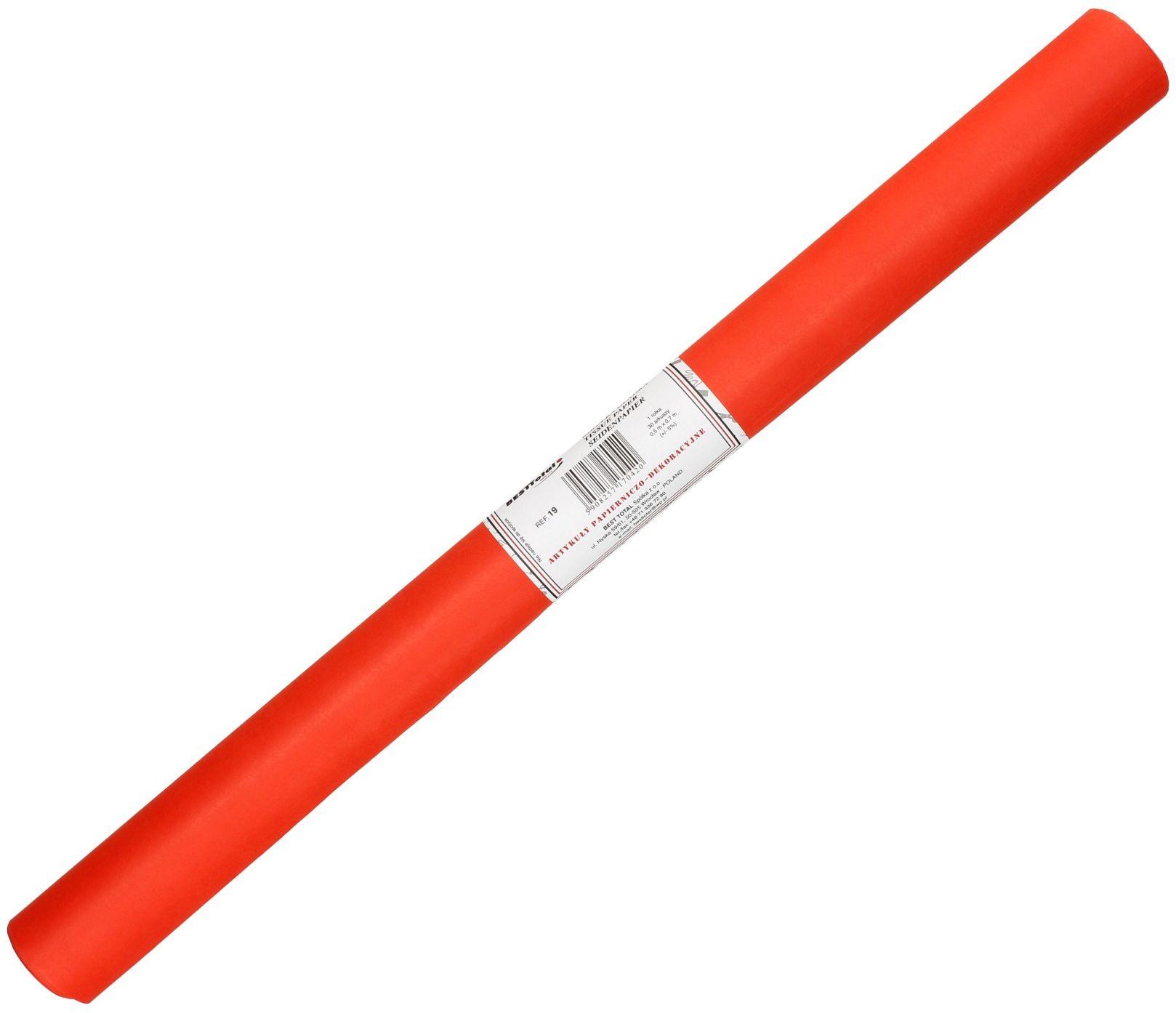 Bibuła gładka czerwony 19 BestTotal (30)