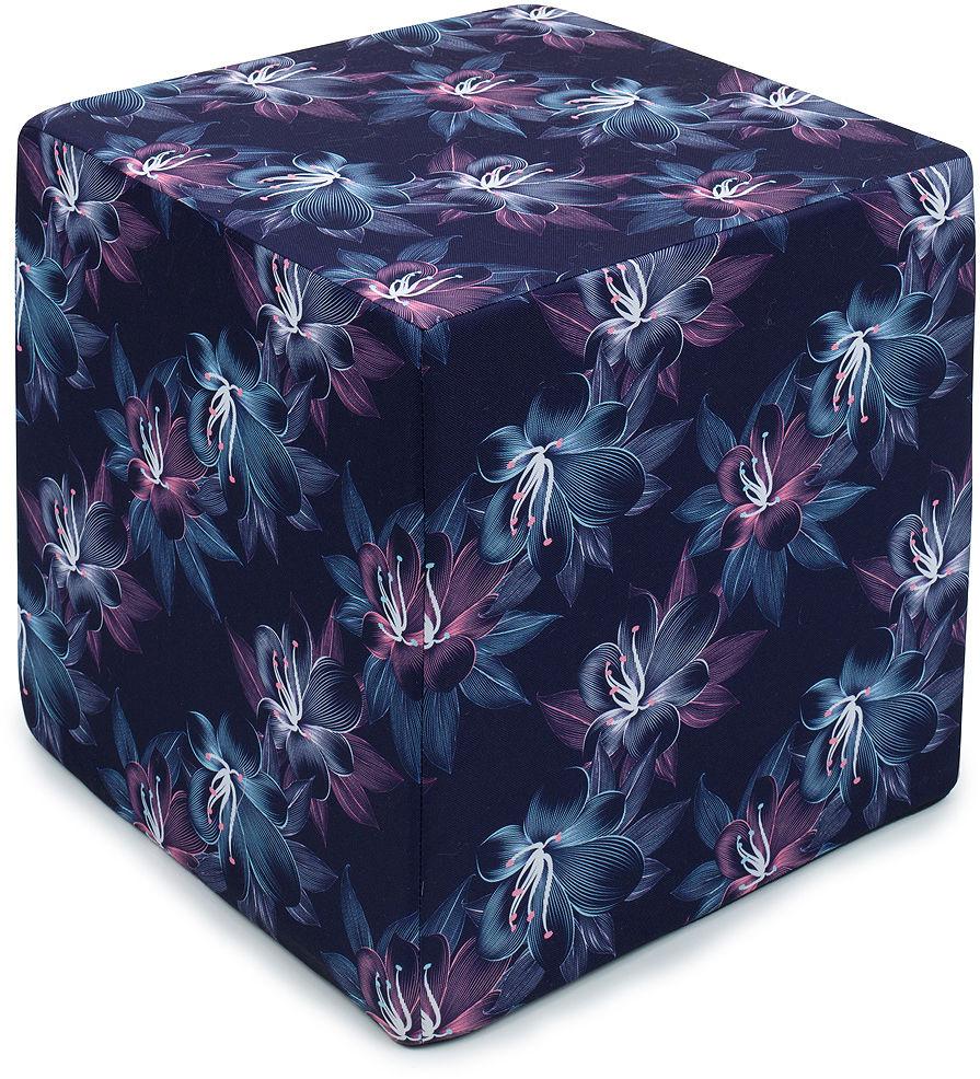 MAMO-TATO Pufa kostka kwadratowa 40x40 Kwiaty pasiaste
