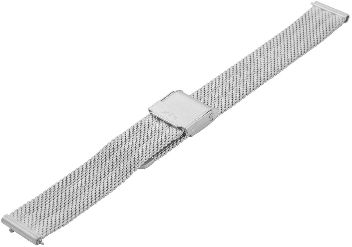 Bransoleta stalowa do zegarka 14 mm Bisset BM-103/14 Silver Mat - srebrny matowy 14 mm