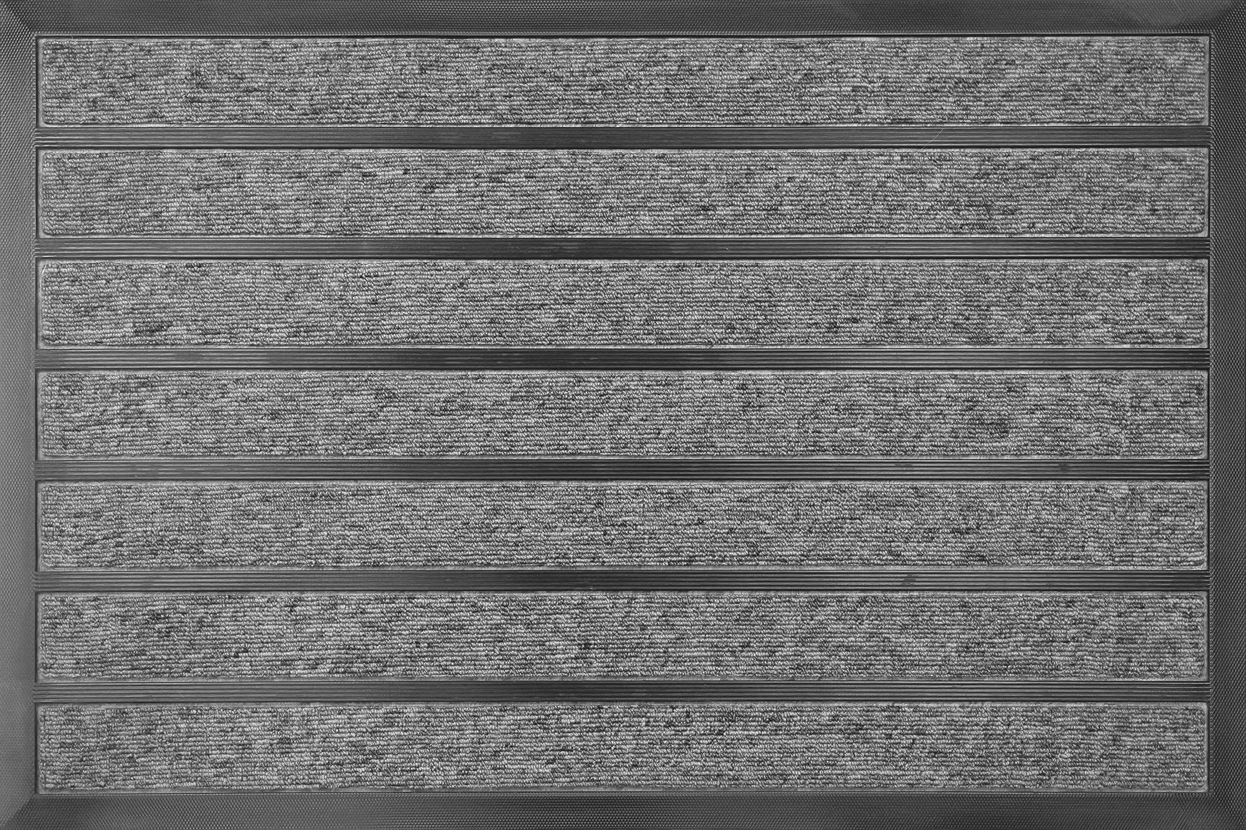 ID Matt 609002 combi'' chłonny dywan wycieraczka z włókna polipropylenu/PCW, kolor szary 80 x 60 x 1,1 cm