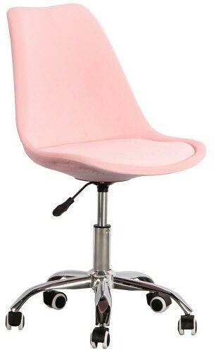 Krzesło obrotowe różowe, welurowe ART235C