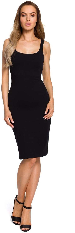 Ołówkowa sukienka na ramiączkach - czarna