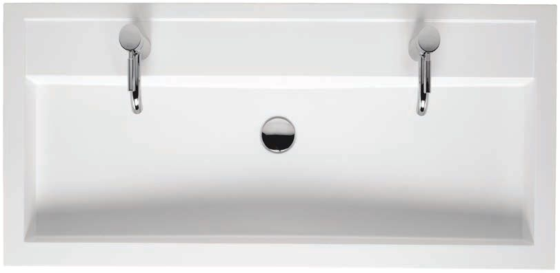 Riho Umywalka dwuotworowa z marmuru syntetycznego 100x48 BOLOGNA F7BO110048121