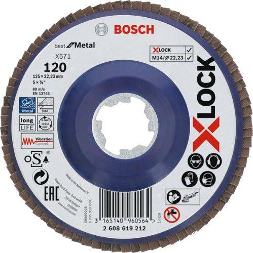 Bosch Tarcza listkowa 125 mm G120 X-LOCK prosta do metalu