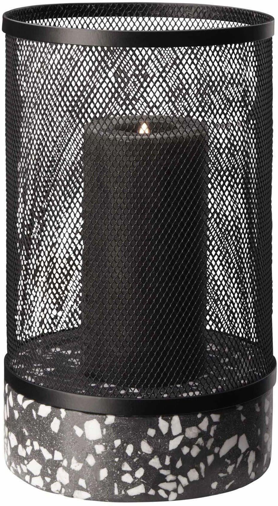 ASA TERRAZZO/219 lampion/terrazzo, czarny, wysokość 27 cm/średnica 16 cm