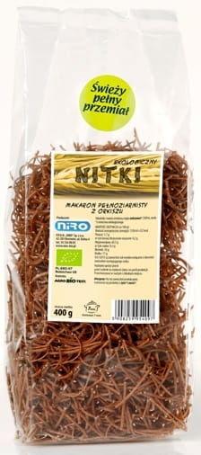 Makaron orkiszowy razowy nitki bio 400 g - niro