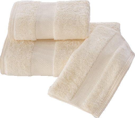 Luksusowy mały ręcznik DELUXE 32x50cm z Modalu Kremowy