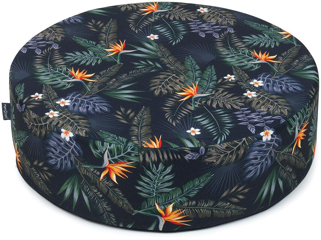 MAMO-TATO Pufa poduszka siedzisko fi 50x14cm Kwiaty tropik