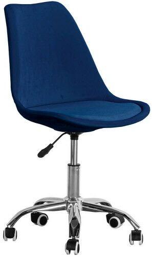Krzesło obrotowe granatowe, welurowe ART235C
