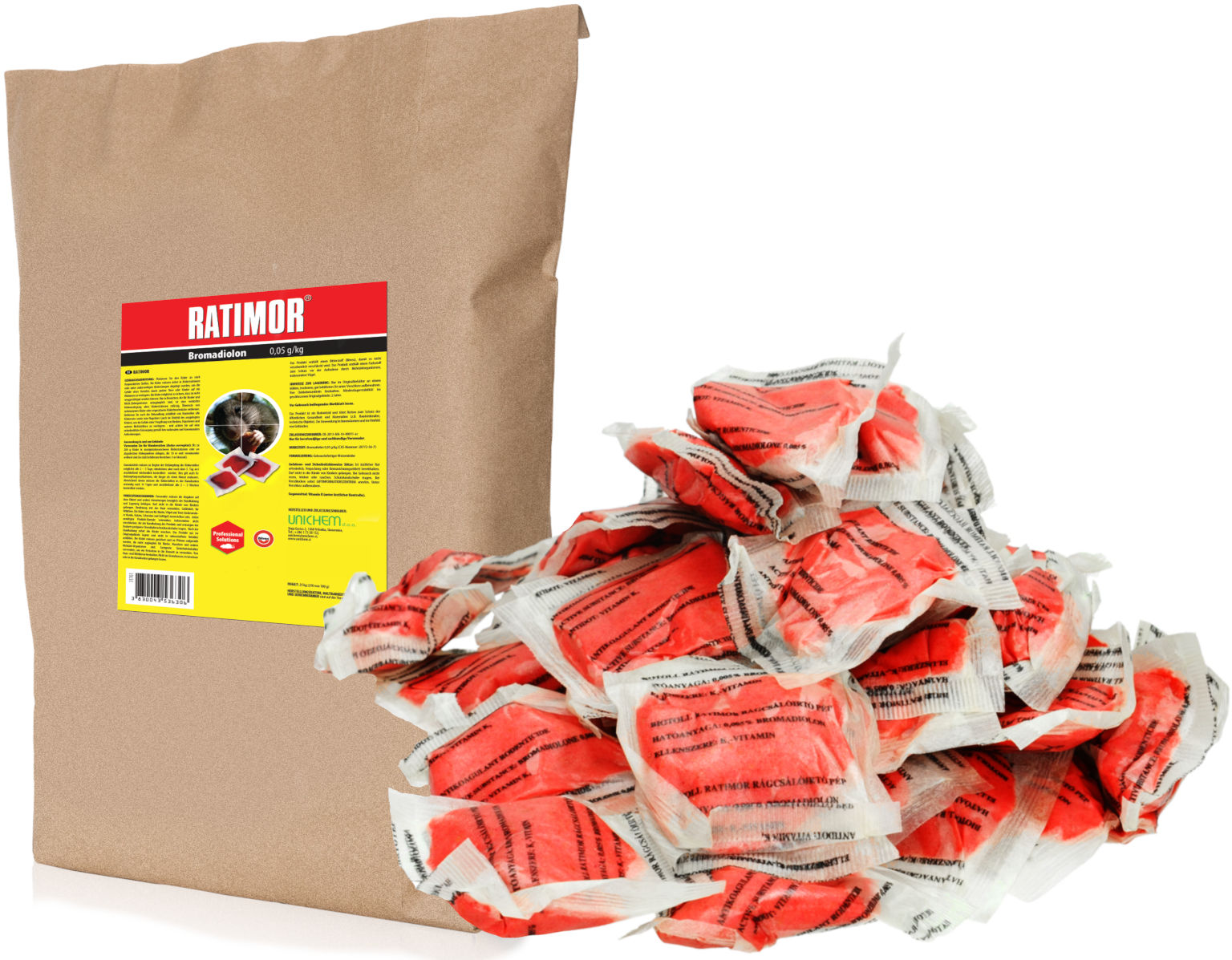 Ratimor 25kg bromadiolone pasta. Trutka na szczury, gryzonie.