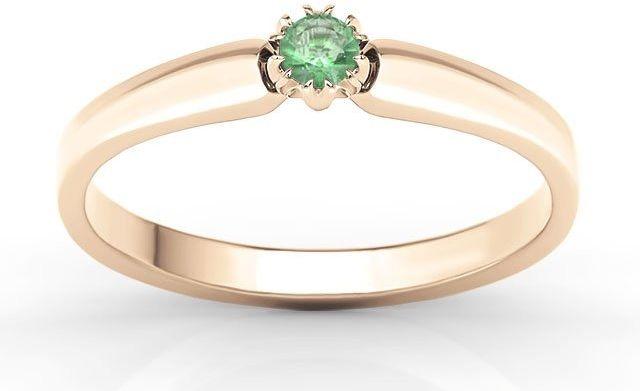 Pierścionek zaręczynowy z różowego złota ze szmaragdem bp-2110p