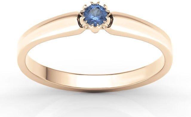 Pierścionek zaręczynowy z różowego złota z szafirem bp-2110p