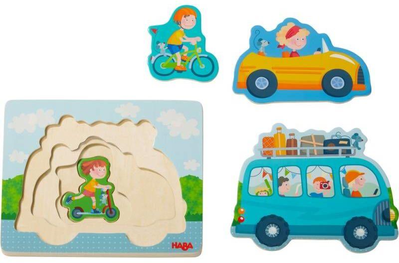 Drewniane puzzle warstwowe W podróży 303679-Haba, układanki dla dzieci