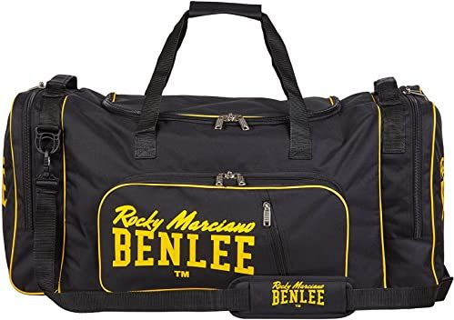 Benlee Rocky Marciano męska klasyczna torba sportowa LOCKER 5 kieszeni z paskiem na ramię, 199153-1561-XL_, czarna / żółta, 90 cm