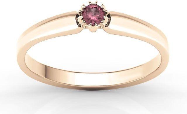 Pierścionek zaręczynowy z różowego złota z rubinem bp-2110p