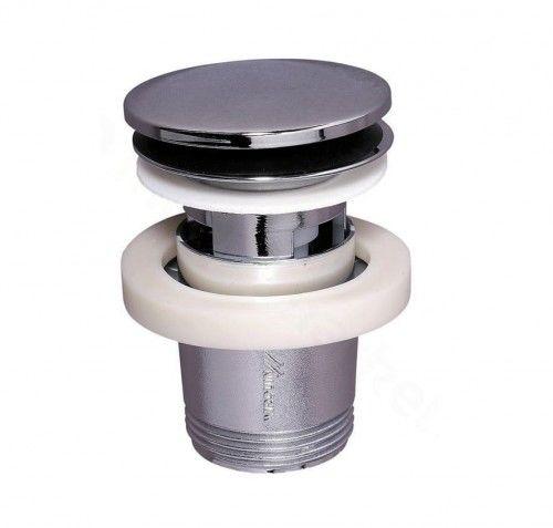 Spust syfonu umywalki chromowany klik-klak, 1 1/4'' x 65 mm, z przelewem