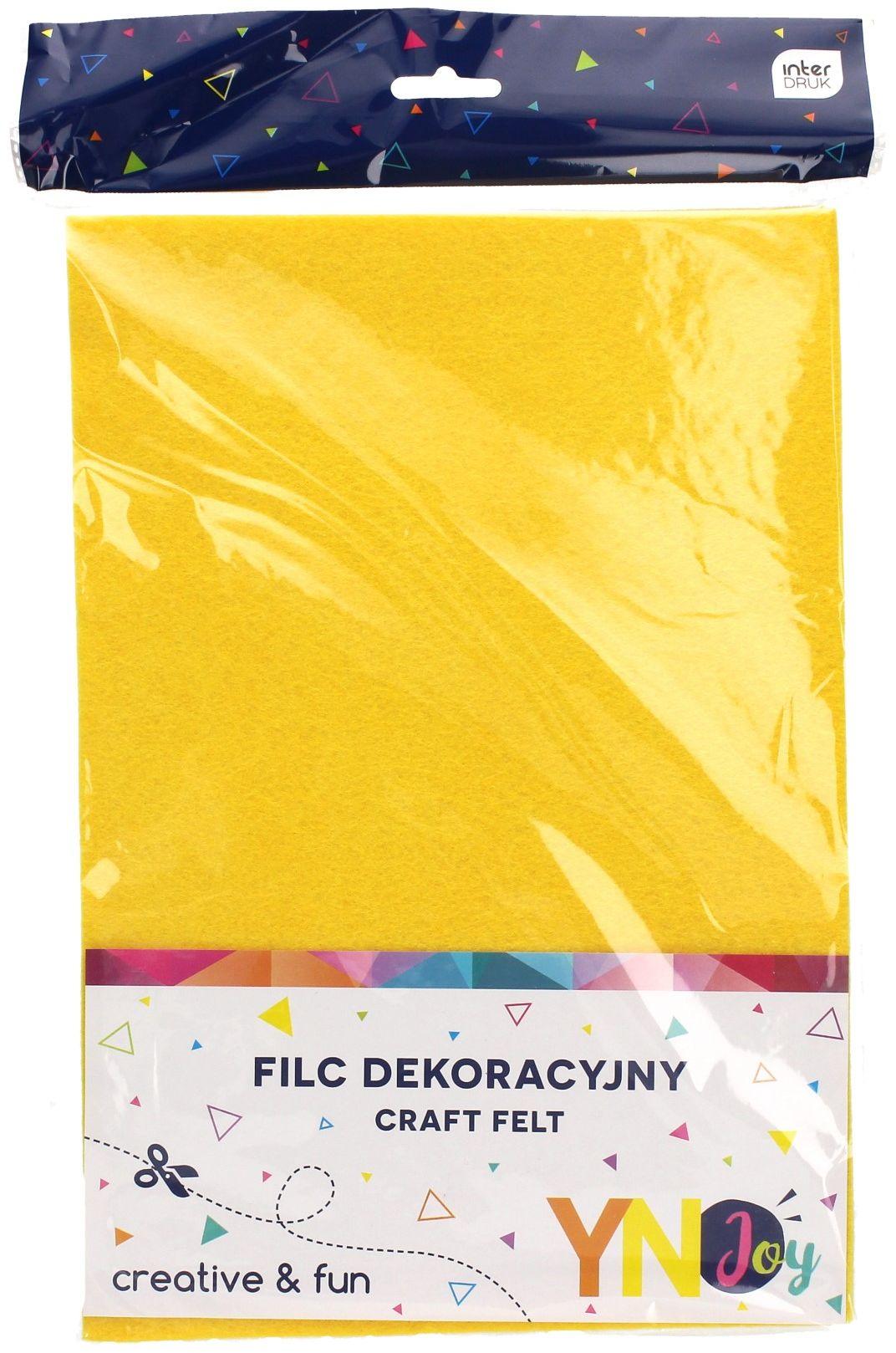 Filc dekoracyjny żółty (8) YN JOY
