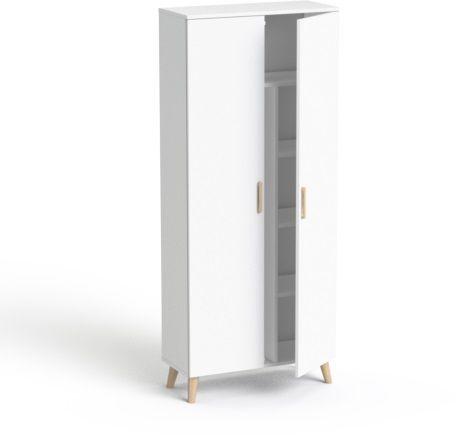 Szafa ubraniowa SV-100D drewno SMB Biały
