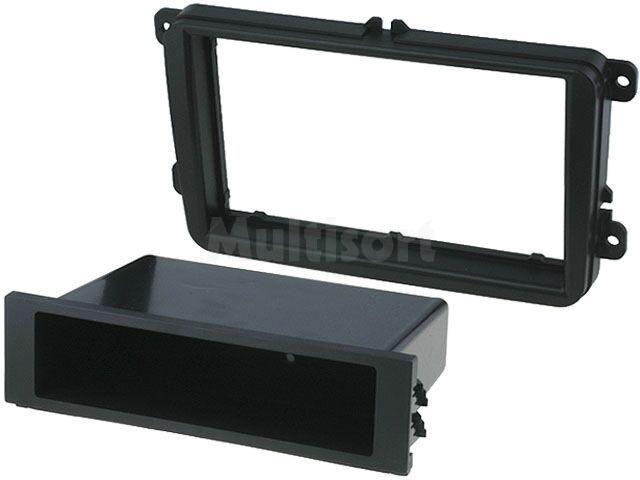 Ramka radiowa 2DIN Seat, Škoda, VW black
