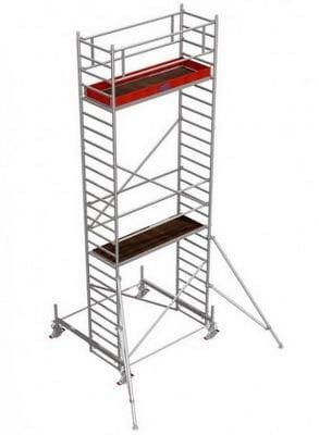 Rusztowanie jezdne Seria 100 wysokość robocza od 4,4-14,4 m Stabilo Professional Krause