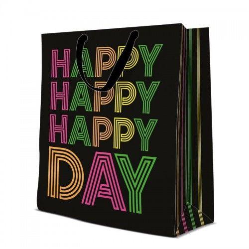 Torebka urodzinowa Neonowe Happy Day
