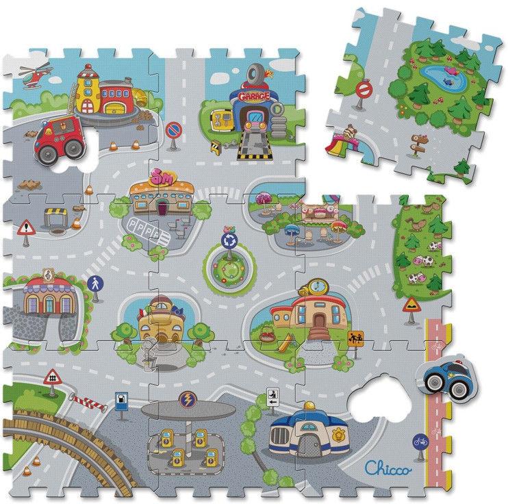 Chicco - Miękka mata Puzzle Miasto 71630