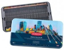Zestaw Kredek Derwent Procolour 36 Kolorów (Metalbox)