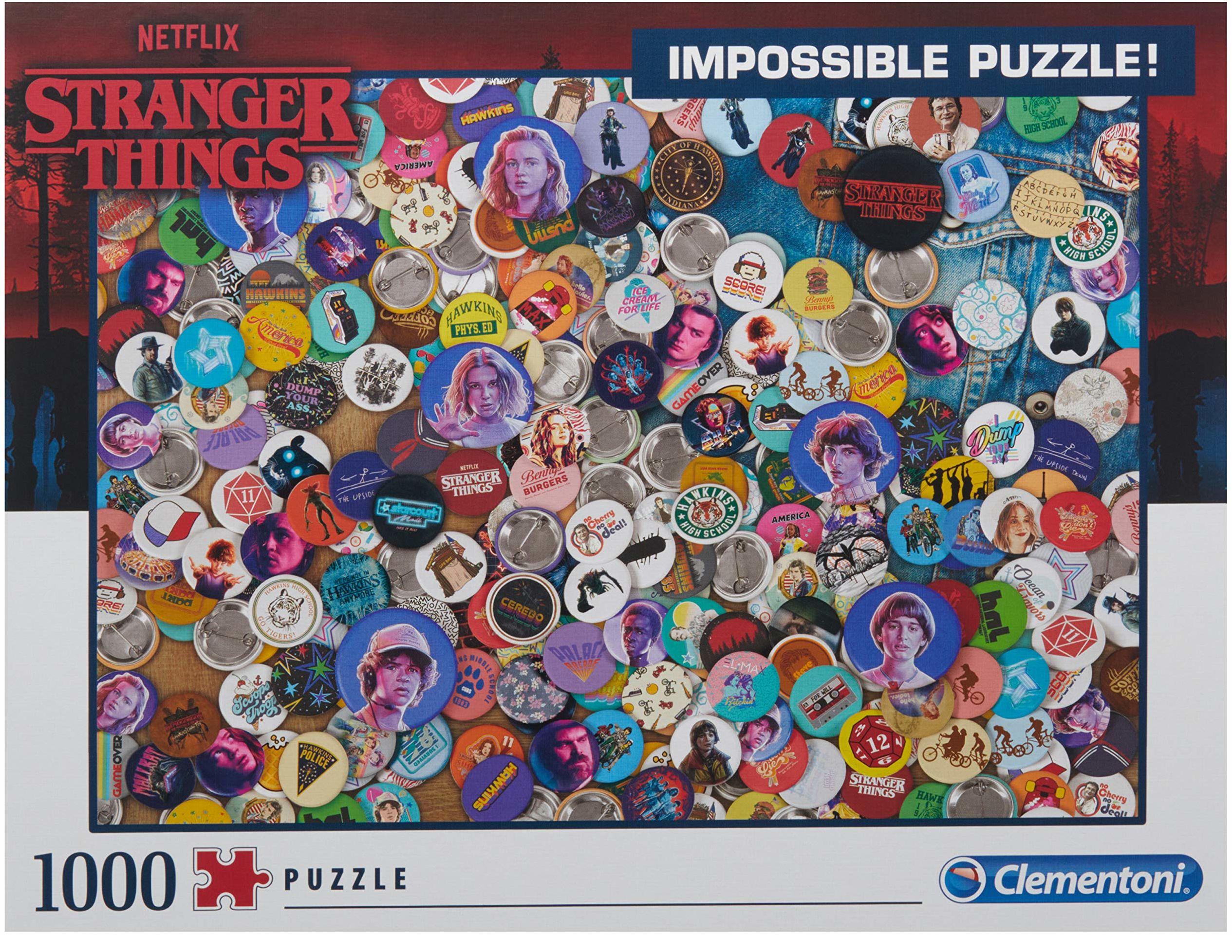 Clementoni 39528 Stranger Things Things-1000 szt. niemożliwe puzzle