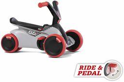 BERG GO  2 w 1 samochodzik ślizgowy i biegowy, dla dzieci z rozkładanymi pedałami, gokart, czerwony, zabawka dla dzieci w wieku od 10 do 30 miesięcy
