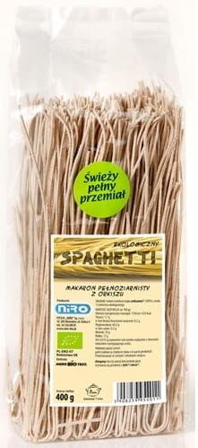 Makaron orkiszowy razowy spaghetti bio 400 g - niro
