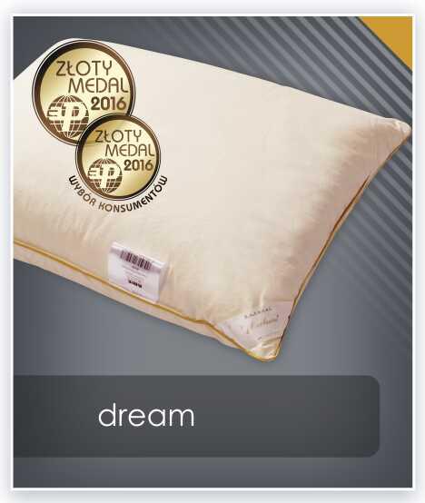 Jednokomorowa poduszka puchowa DREAM AMZ puch 90%