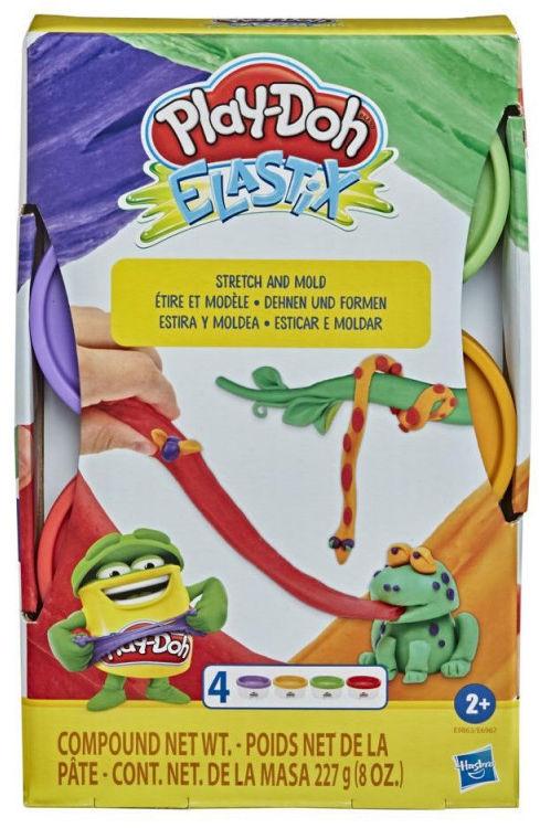 Zestaw mas plastycznych PlayDoh Elastix Bold