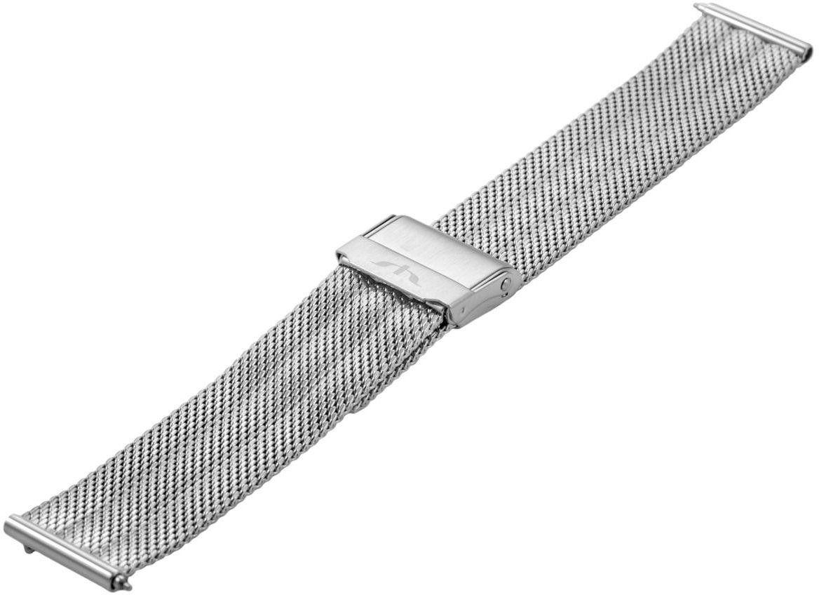 Bransoleta stalowa do zegarka 16 mm Bisset BM-103/16 Silver