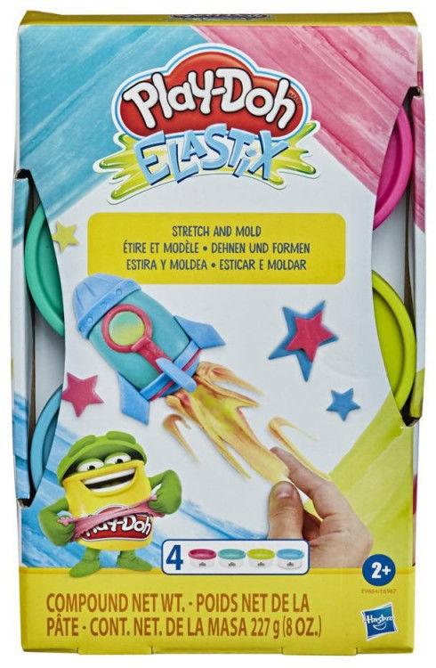 Zestaw mas plastycznych PlayDoh Elastix Bright